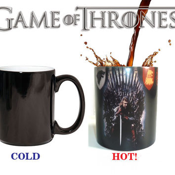 Drop shipping Game of thrones Winter is coming Fire and Blood coffee mugs Eddard Stark color changing mug