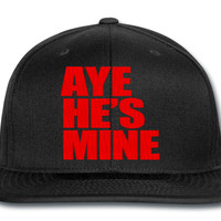 AYE HE IS MINE RED snapback