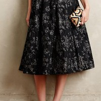 Shimmered Rose Skirt by Tracy Reese Black Motif