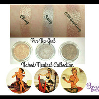 Naked Neutral Pin Up Girl Eyeshadow Collection 3pc Set Mineral Makeup Eye Shadow