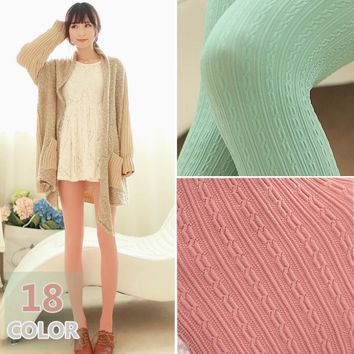 W784 160D Autum and Winter Thick Velvet Tights Women Sexy Pantyhose Stripe Leg Warm 18 colors