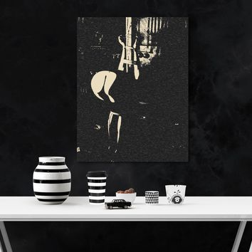 Fetish Erotic Art 200gsm poster - Into the Darkness, BDSM Master dungeon