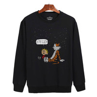 Calvin and Hobbes Sweater sweatshirt unisex adults size S-2XL