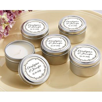 Personalized Travel Candle - The Hunt Is Over