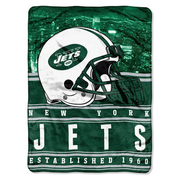 New York Jets NFL Silk Touch Throw (Stacked Series) (60inx80in)