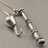 Pirate - Spyglass and Hook Charms
