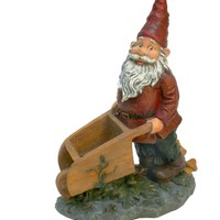 Design Toscano Wheeler with the Wheelbarrow Garden Gnome Statue | www.hayneedle.com