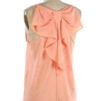 Bow Back Tank Top - Peach - elle & k boutique