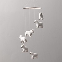 Wool Felt Sheep Mobile