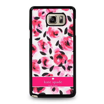 KATE SPADE NEW YORK PINK ROSE Samsung Galaxy Note 5 Case Cover