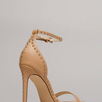 Stunning Studding Ankle Strap Heels