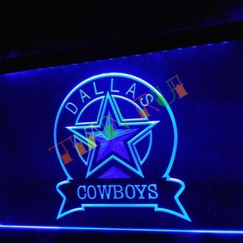 LD239- Dallas Cowboys Sport Bar   LED Neon Light Sign home decor shop crafts