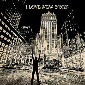 I Love New York city png clip art skyscraper buildings people  Digital Image Download printable