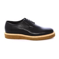 LA57 - Black derby with crepe sole