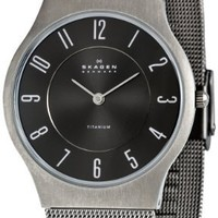 Skagen Men's 233LTTMC Black Dial Watch
