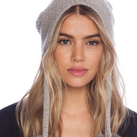 Grey Knitted Trapper Hat