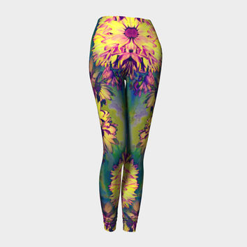 In Bloom, Compression fit performance Leggings, XS,S,M,L,XL, Hot Yoga Pants, Activewear, Yoga Leggins Made in Canada