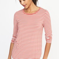 Luxe Crew-Neck Tee for Women | Old Navy