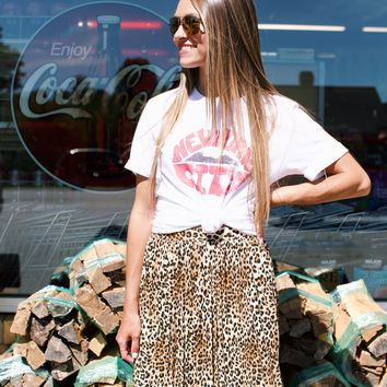 Right Meow Pleated Skirt, Brown Combo