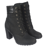 Timberland Glancy 6 IN Women's Black Low Heel Ankle Boots | Shiekh Shoes