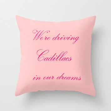 Velveteen Pink Royals Lyrics Pillow - Valentine's Day - Pink Throw Pillow - Housewares - Home Decor - Teen Room Decor
