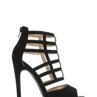 Strappy Days Are Here Caged Heels