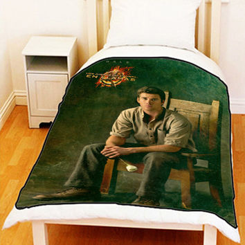 "The Hunger Games Catching Fire Gale Fleece Blanket Bed Throw Size Medium 50"" x 60"" Large 60"" x 80"" Unique Gift For Christmas"