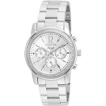 Invicta Women's 21714 Angel Quartz Chronograph Silver Dial Watch