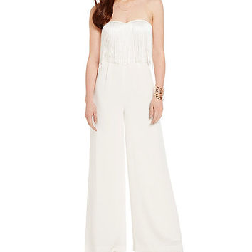 Jessica Simpson Lizbeth Fringe Jumpsuit | Dillards
