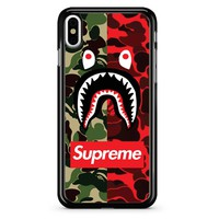 Supreme Bape Dub Camo iPhone X Case