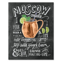 Moscow Mule Cocktail Recipe - Print & Canvas