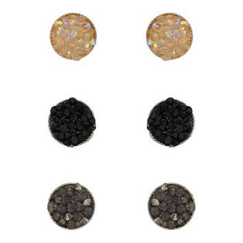 Facet Three Pack Earrings - Jewelry - Accessories