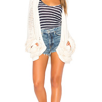 Chaser Fringe Cardigan in Natural