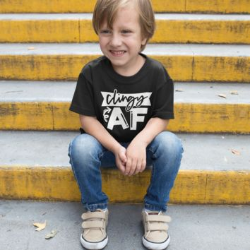 Kids Funny T Shirt Clingy AF Shirt Funny Toddler Shirts Hilarious Cute Shirts For Toddlers
