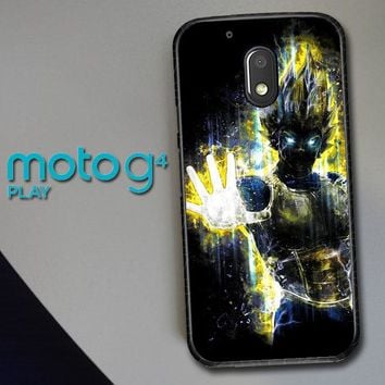 Dragon Ball Z Vegeta Bad Man Saiyan Prince L1405 Motorola Moto G4 Play Case