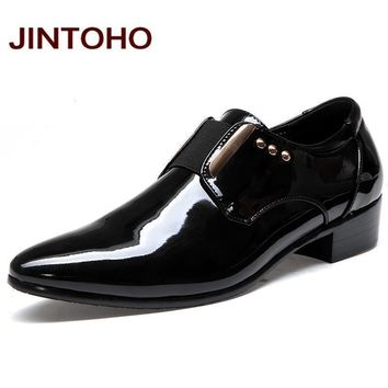 Italian Leather Dress Shoes / Fashionable Men Moccasins