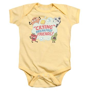 Steven Universe - Crying Breakfast Friends Infant Snapsuit Officially Licensed Baby Clothing