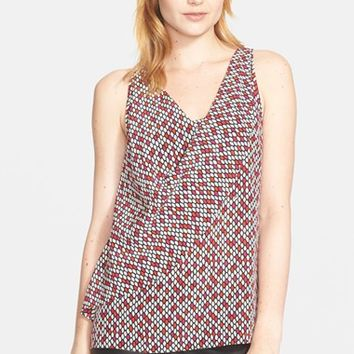 Women's Trina Turk 'Burke' Print Silk Sleeveless Top,