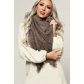 No Brainer Blanket Scarf (Taupe)