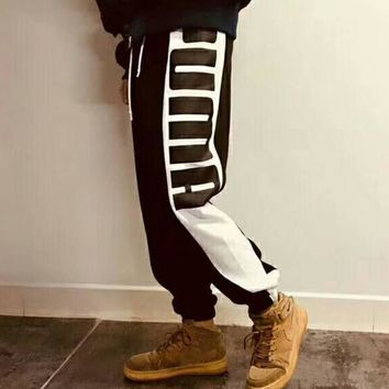 PUMA 2018 spring and summer new trend fashion casual wild trousers F-CR-CP-WM-YD