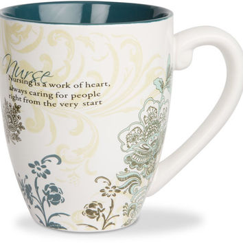 Nurse...Nursing is a work of heart, always caring for people right from the very start Mug
