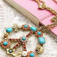Multi Statement - Anti-War Blooming Necklace | UsTrendy