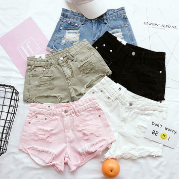 Ripped Casual Shorts