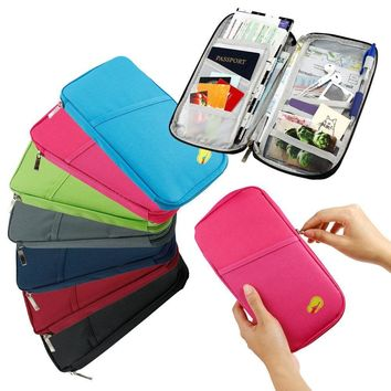 Travel Passport Credit ID Card Cash Wallet Purse Holder Document Case
