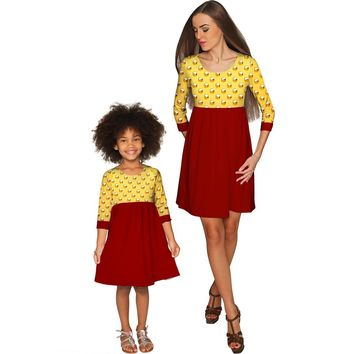 Go For Gold Gloria Empire Waist Floral Mother and Daughter Dress