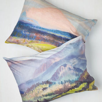 Rustic Beguiling Brushstrokes Pillowcase Set by ModCloth