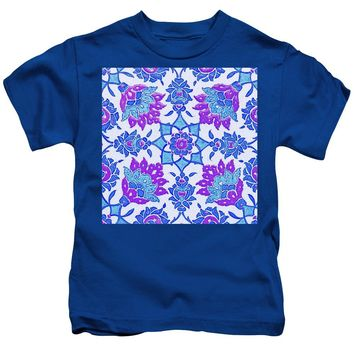 An Ottoman Iznik Style Floral Design Pottery Polychrome, By Adam Asar, No 13i - Kids T-Shirt