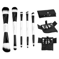 Ovonni 5pcs Double Ended Makeup Brush Cosmetic Set Kit with Cloth Brush Bag