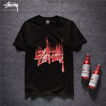 Trendsetter Stussy Women Men Fashion Casual Pattern Print Shirt Top Tee