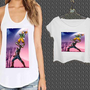 captain america and goofy For Woman Tank Top , Man Tank Top / Crop Shirt, Sexy Shirt,Cropped Shirt,Crop Tshirt Women,Crop Shirt Women S, M, L, XL, 2XL**